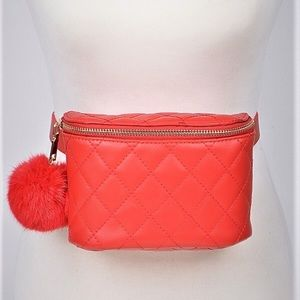 Handbags - Fur 4 Love Fanny Pack - Red